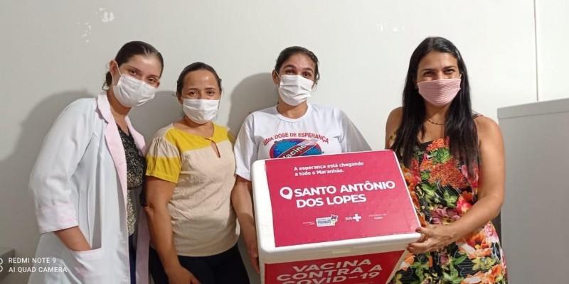 Santo Antônio dos Lopes recebe mais um lote de vacinas contra a Covid 19.